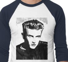 Jimmy Dean: Black & White Men's Baseball ¾ T-Shirt