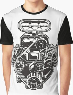 Cartoon Turbo Engine Graphic T-Shirt