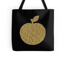 Gold Glitter Apple Tote Bag