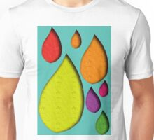 colorfull waterdrops  Unisex T-Shirt