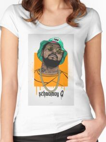 schoolboy q oxymoron Women's Fitted Scoop T-Shirt