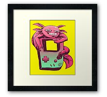 Axolotl Game Boy Framed Print
