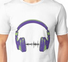 Headphones - Green and Blue Unisex T-Shirt