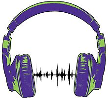 Headphones - Green and Blue by wallyhawk