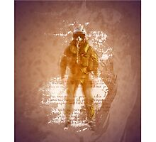FIghter Pilot Art Photographic Print