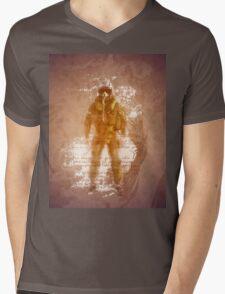 FIghter Pilot Art Mens V-Neck T-Shirt