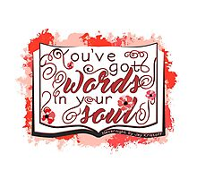 Nevernight - You've Got Words In Your Soul (red) Photographic Print