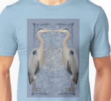 Herons on blue Unisex T-Shirt
