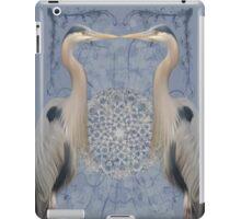 Herons on blue iPad Case/Skin
