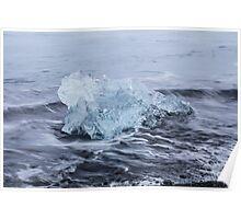 Beautiful view of icebergs in Jokulsarlon glacier lagoon, Iceland Poster