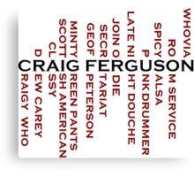 Craig Ferguson Name Tree Canvas Print