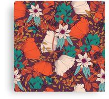 Botanical pattern 010 Canvas Print