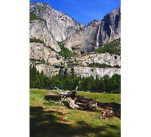 Upper and Lower Yosemite falls Photographic Print