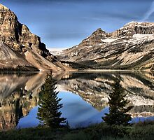 Reflections in the Canadian Rocky Mountains by Vickie Emms