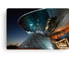 BMW Welt: Night Vision Canvas Print