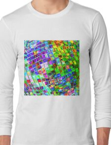 Psychedelic Planet Disco Ball Long Sleeve T-Shirt