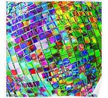Psychedelic Planet Disco Ball Poster
