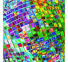 Psychedelic Planet Disco Ball Photographic Print