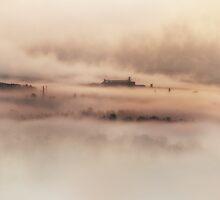 Foggy morning in Toskany by JBlaminsky