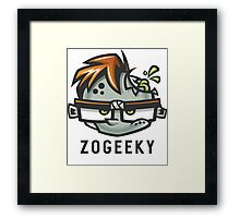 Zombies and Geeks Framed Print