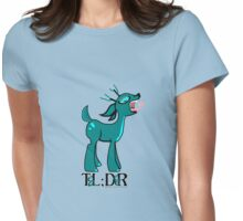 TL;DR Teal Deer Womens Fitted T-Shirt