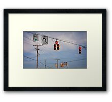 A Confusing Intersection Framed Print