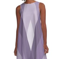 Modern Harlequin Pattern in Purple A-Line Dress