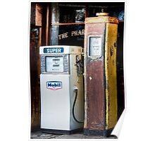 Old Petrol Pumps Poster