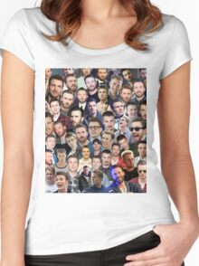 chris evans collage Women's Fitted Scoop T-Shirt