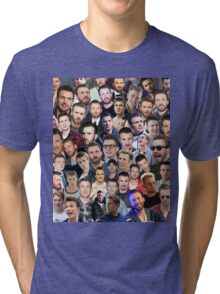 chris evans collage Tri-blend T-Shirt