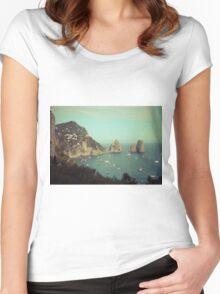 Amalphi coast, Capri, Italy 4 Women's Fitted Scoop T-Shirt