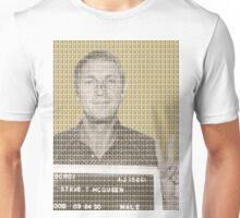 Steve McQueen Mug Shot - Gold Unisex T-Shirt