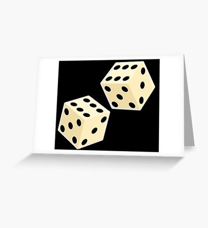 LUCK, LUCKY, DOUBLE SIX, DICE, Throw the Dice, Casino, Game, Gamble, CRAPS Greeting Card