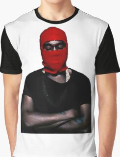 Red Ski Mask Down Kanye Graphic T-Shirt