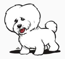 Bichon Frise cartoon dog by DogiStyle