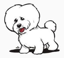 Bichon Frise cartoon dog by DogiStyle