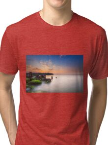 Fishbourne Breakwater Sunset Tri-blend T-Shirt
