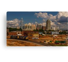 Train and Downtown Raleigh Canvas Print