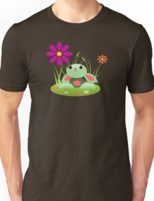 Little Green Baby Bunny With Flowers Unisex T-Shirt