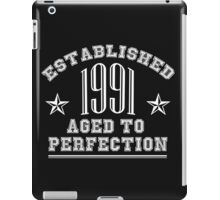 ESTABLISHED 1991 AGED TO PERFECTION MERCHANDISE iPad Case/Skin