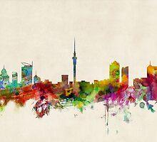Auckland New Zealand Skyline by Michael Tompsett
