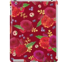 Winter Berry Floral Burgundy iPad Case/Skin