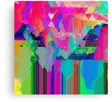 Psychedelic Glitch Canvas Print
