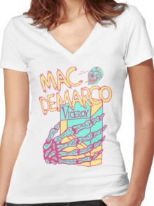 Mac Demarco - The Cramp Women's Fitted V-Neck T-Shirt