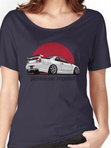 Nissan Skyline GTR R34 (white) Women's Relaxed Fit T-Shirt