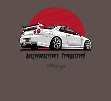 Nissan Skyline GTR R34 (white) Unisex T-Shirt