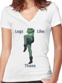 Legs Like These Women's Fitted V-Neck T-Shirt