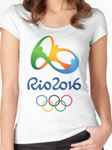 RIO OLYMPICS 2016 Women's Fitted Scoop T-Shirt