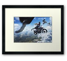 All Shall Fall - Motorcycle race Framed Print