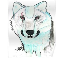 Pastel wolf Poster